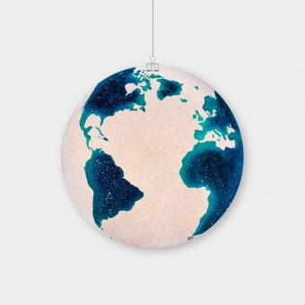 Night Sky Wooden Globe